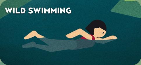 Wild Swimming Button